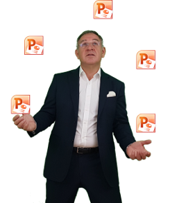 Pierre BULTEL jongle avec PowerPoint